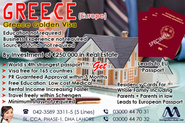 Get Residency of Greece by Investment