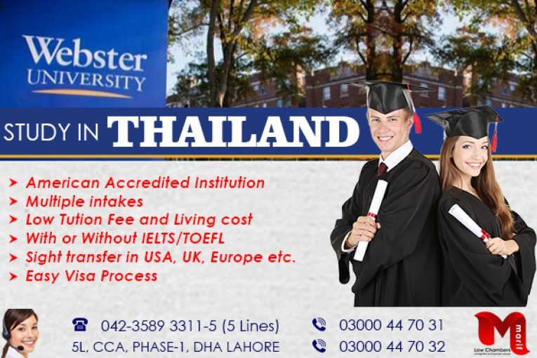 Apply Study Visa of Thailand in Webster University