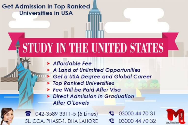 Get Admission in Top Ranked Universities of USA