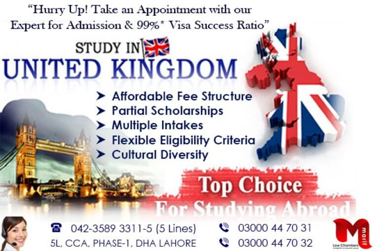 Apply Study Visa of UK in Top Ranked Universities